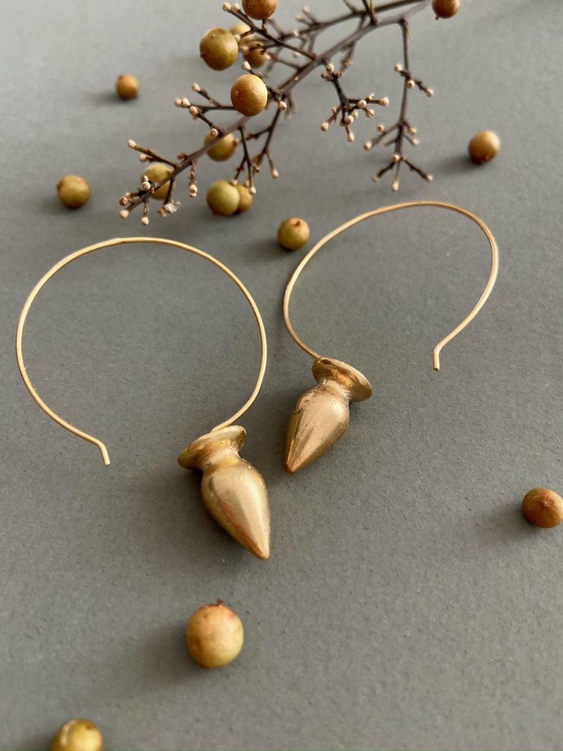 Boucles d'oreilles-Byzan-choufchouf-bijoux-or-laiton-maroc