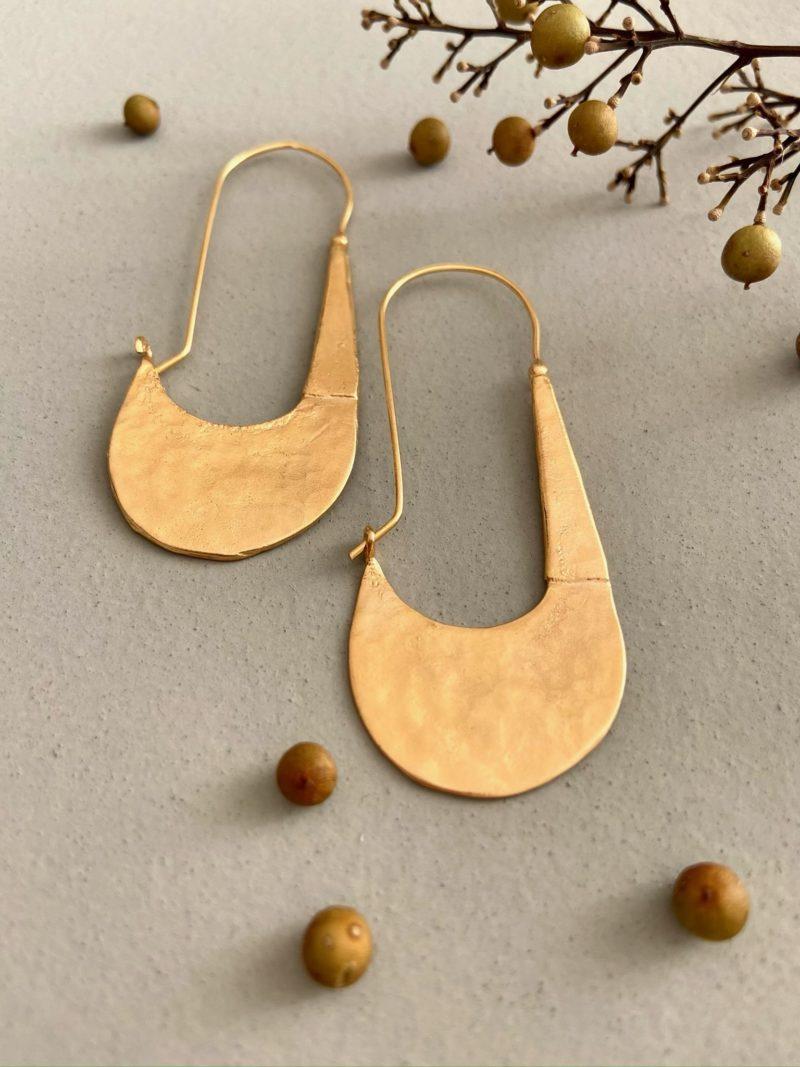 Boucles d'oreilles-bijoux-Byzan-ChoufChouf-or-plaqué or-laiton