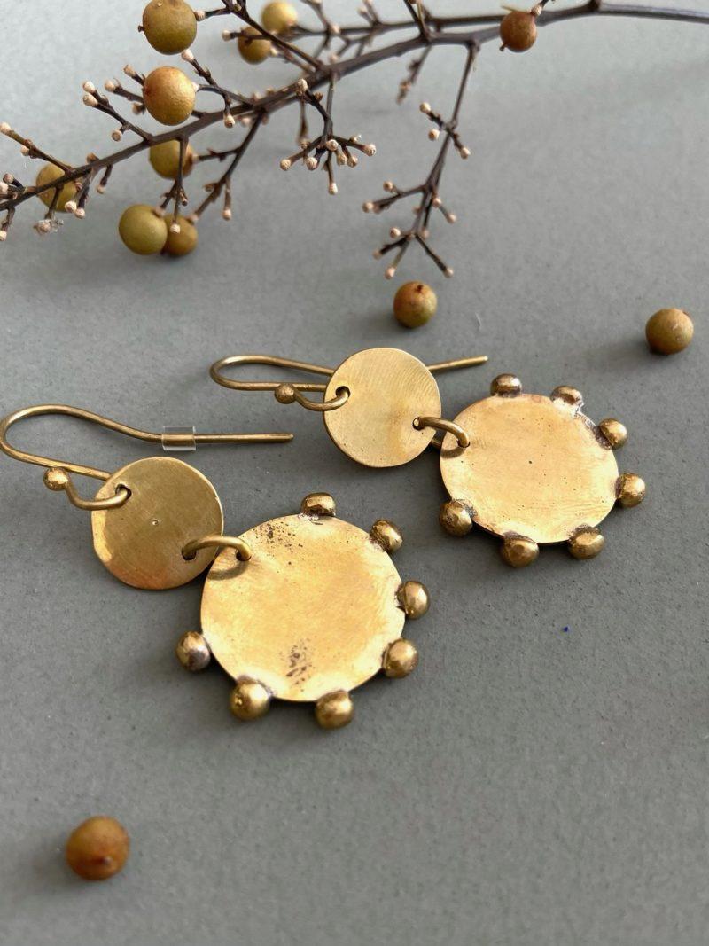 hamimi-boucles d'oreilles-bijoux-maroc-laiton-choufchouf