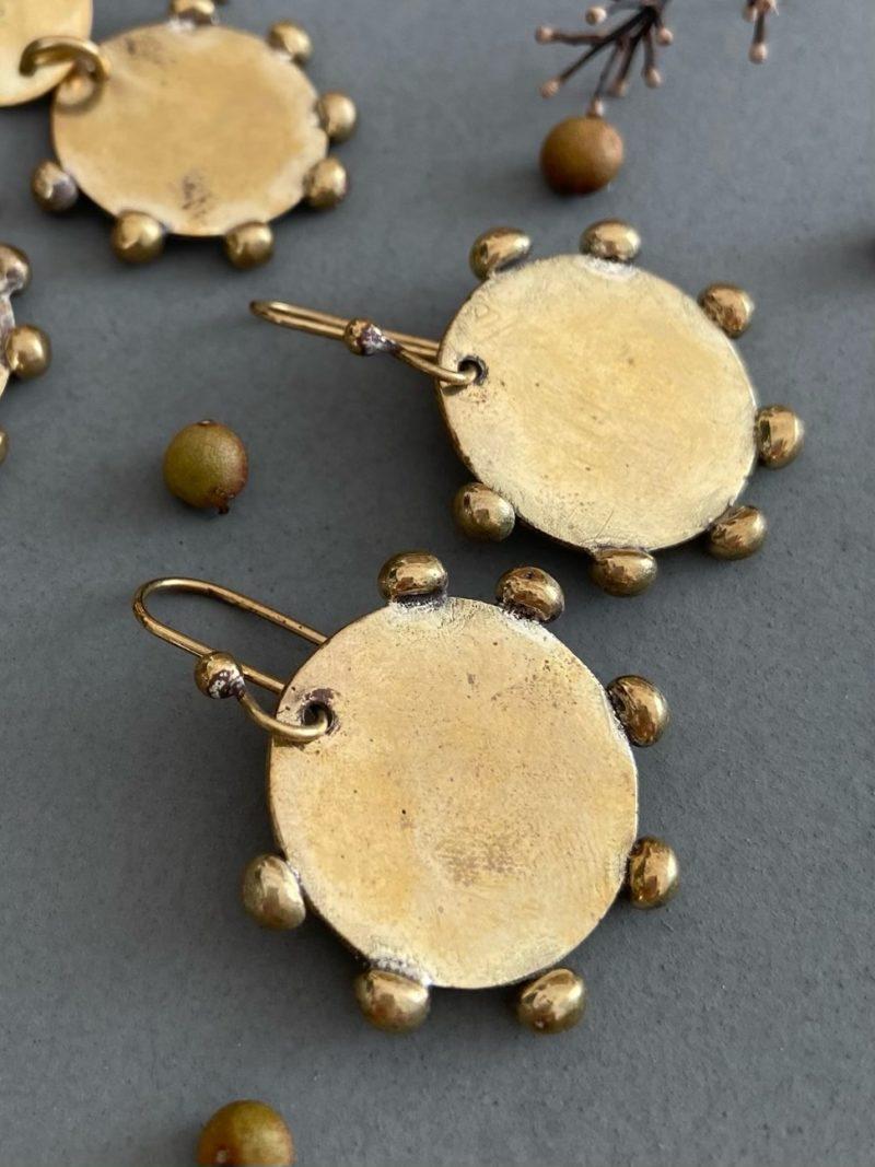 Hamimi-boucles d'oreilles-laiton-marrakech-bijoux-maroc-femmes-atelier-créations-Hebba Line Earrings