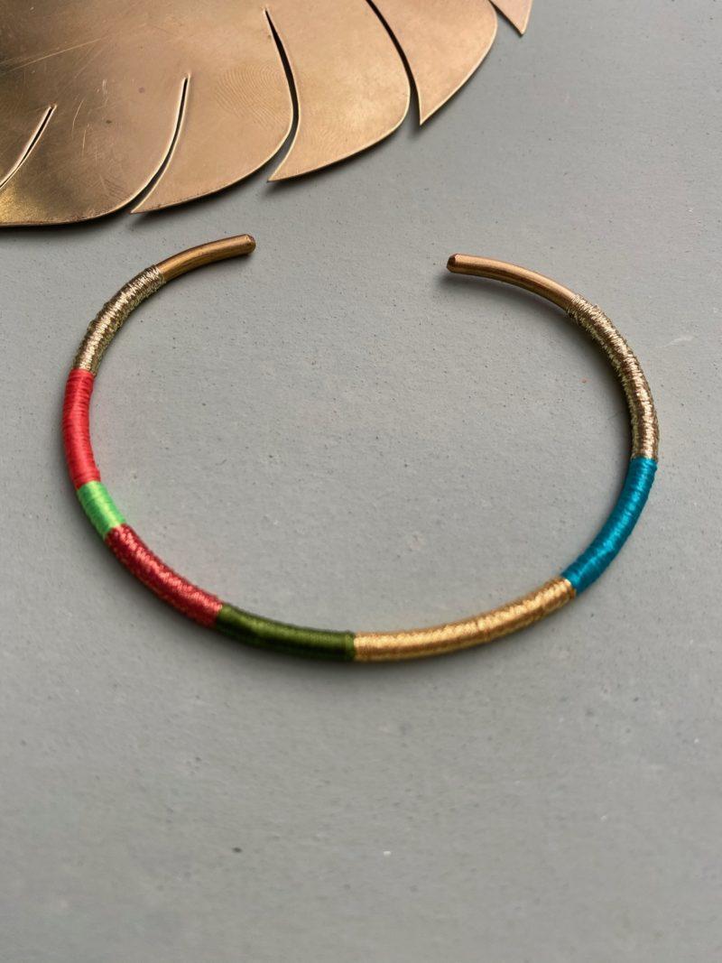 Jonc-laiton-fils de couleurs-faubourg des gazelles-bracelet-bijoux-Maroc-Marrakech