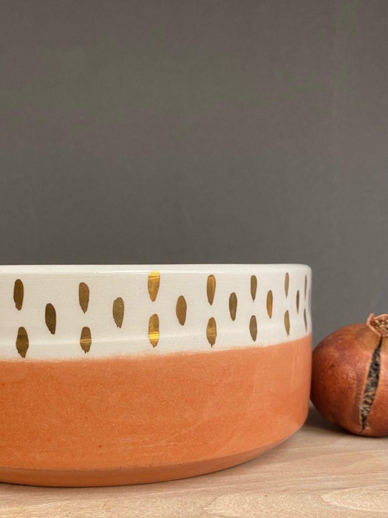 Chabichic-plat-saladier-vert-bleu-vaisselle-teracotta-rose-bol-récipient-céramique-blanche-gold-maroc-marrakech-artisanat-céramique-blanche-choufchouf